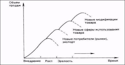 База рефератов Курсовая работа Разработка систем управления  Рисунок 1 Жизненный цикл товара